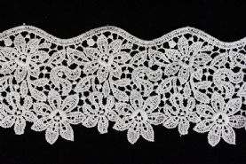 Very Wide 80mm or 31/2 Guipure Lace Trim  Available in 2 colours